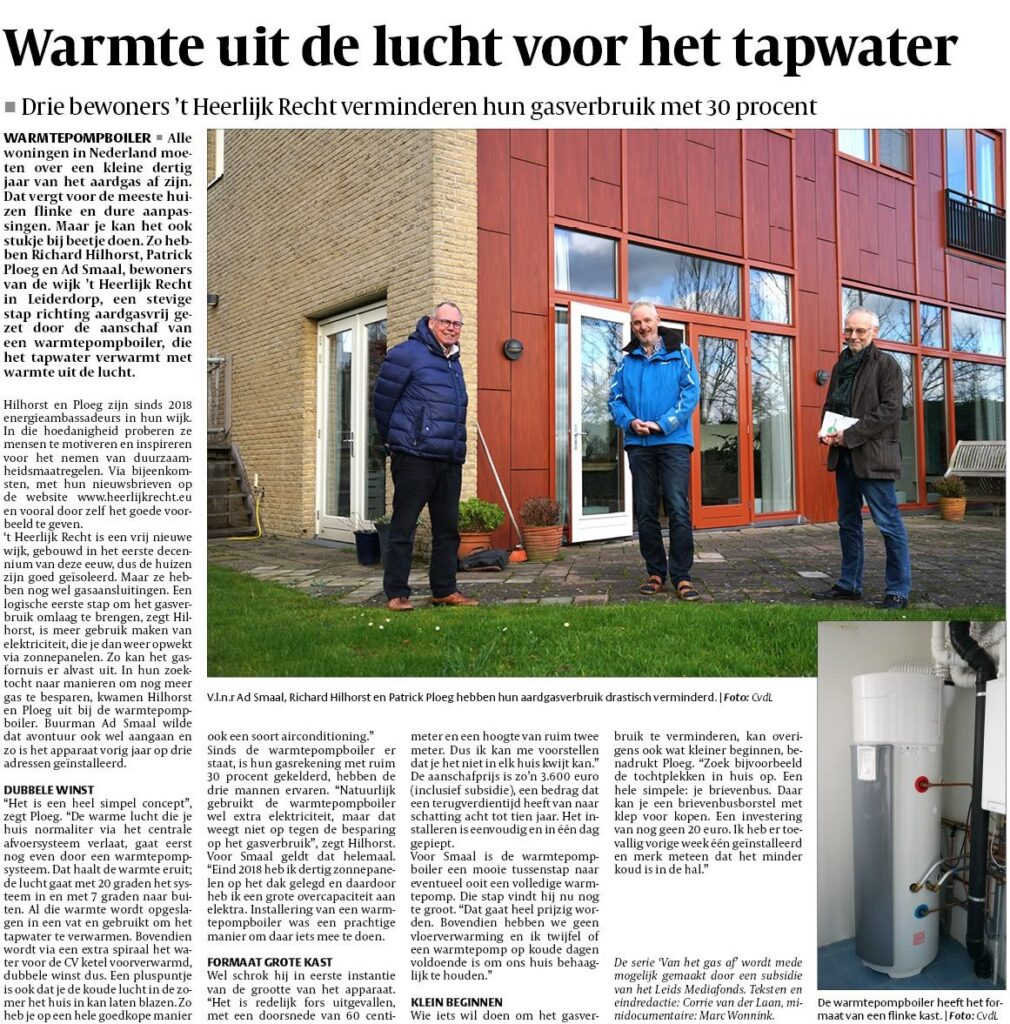 Leiderdorps Weekblad - Warmtepompboiler